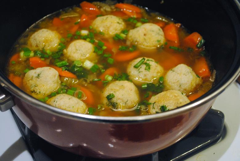 Vegetarian Matzo Ball Soup | A Graceful Taste