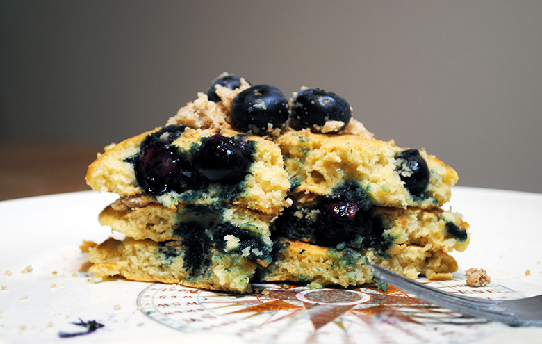 blueberry-muffin-breakfast-pancake